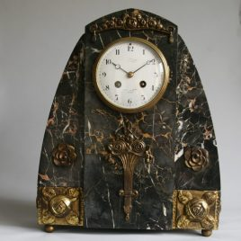 Antique French marble striking clock