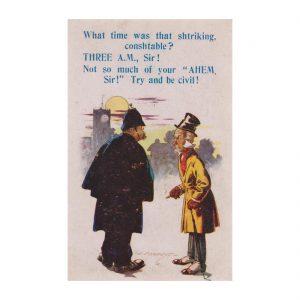 Policeman Postcard