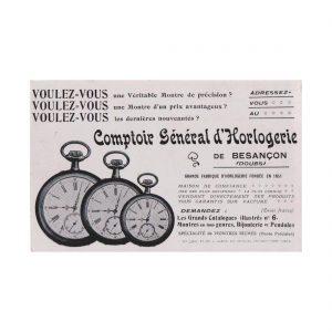 Comptoir General D'Horlogerie Postcard