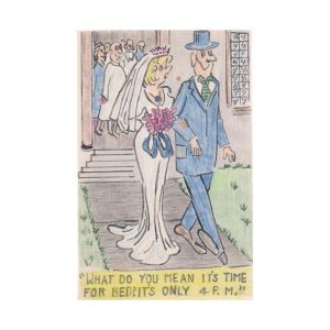 Wedding Couple Postcard