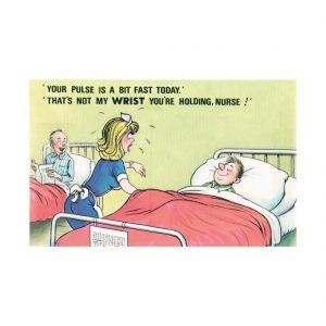 Saucy Hospital Postcard