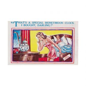 Honeymoon Clock Postcard
