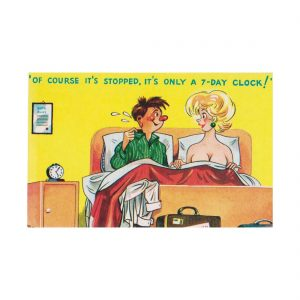 Saucy Clock Postcard