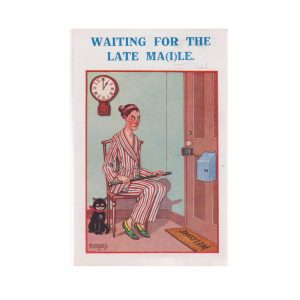 Waiting for the Late Ma i le Postcard