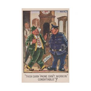 Drunk & Disorderly Postcard