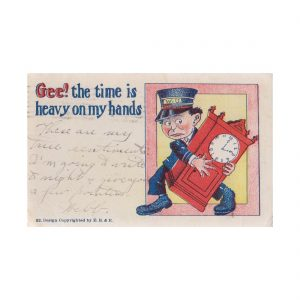 Time is Heavy on My hands Postcard