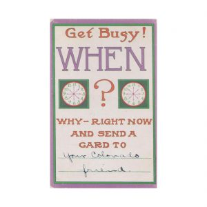 Get Busy Postcard
