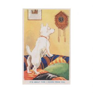 White Scottie Postcard