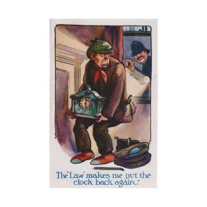 Theft of Clock Postcard