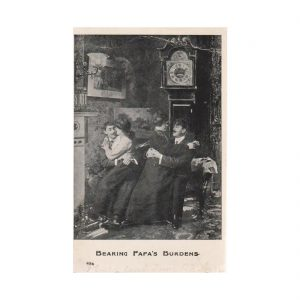 Bearing Papa's Burden Postcard