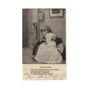 Courting Couple Postcard
