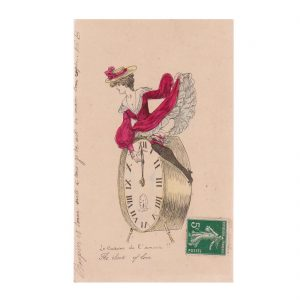 Women & Clocks Postcard