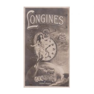 Longines Watch Advert Postcard