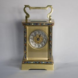 French Enamel Carriage Clock