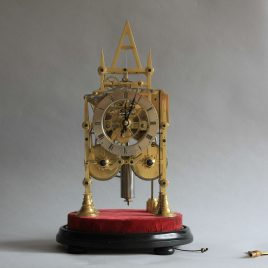 Twin Fusee Striking Skeleton Clock