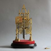 Twin Fusee Striking Skeleton Clock