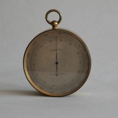 TH65 Leather Cased Barometer